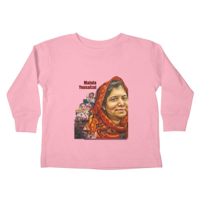 Malala Yousafzai Kids Toddler Longsleeve T-Shirt by Afro Triangle's