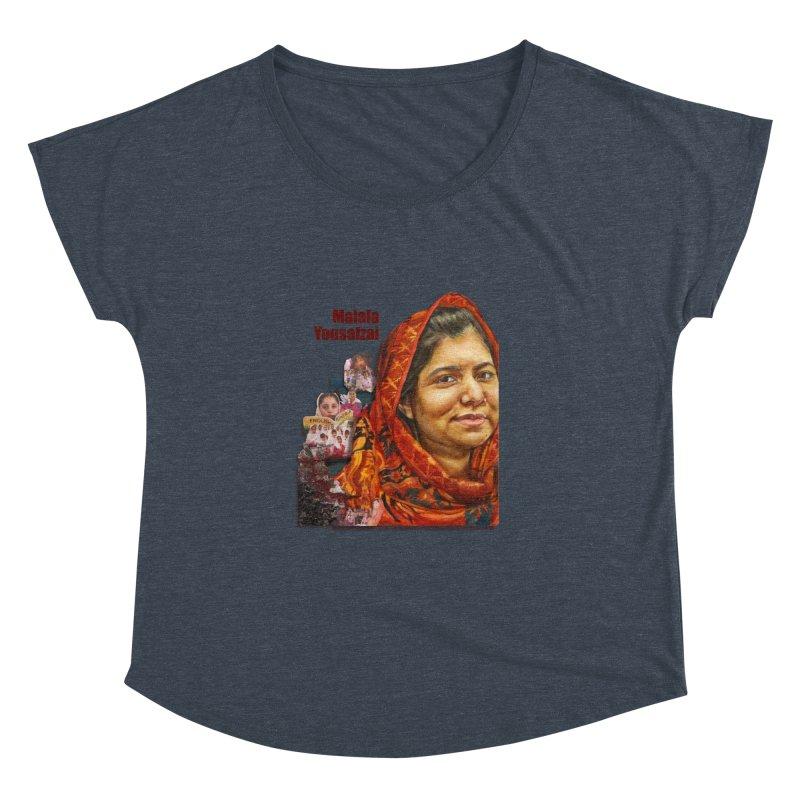 Malala Yousafzai Women's Dolman Scoop Neck by Afro Triangle's