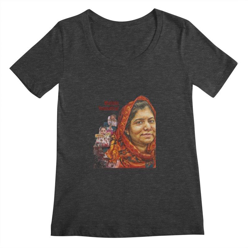 Malala Yousafzai Women's Scoopneck by Afro Triangle's
