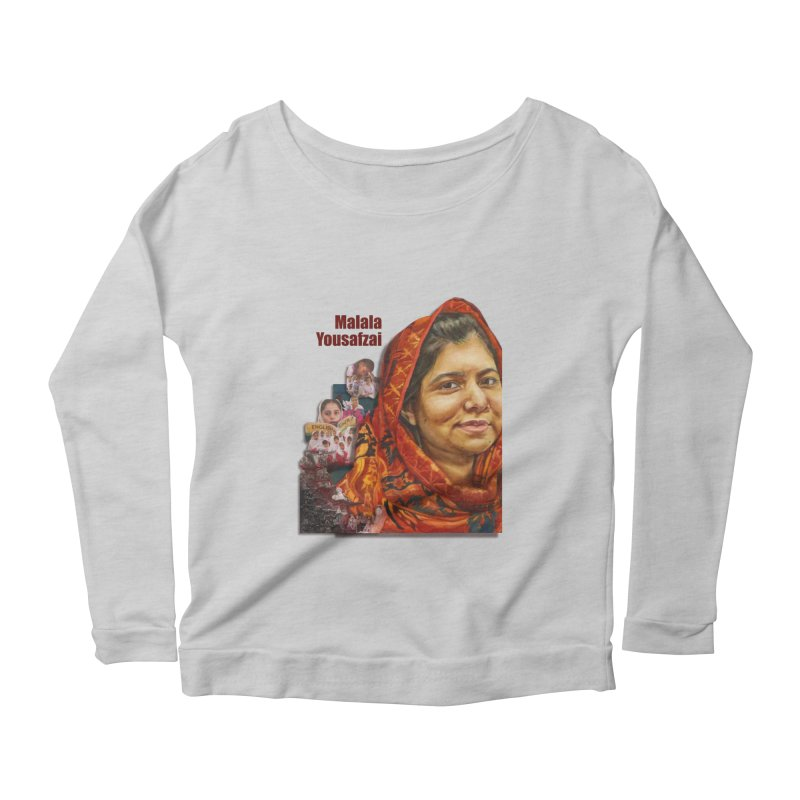 Malala Yousafzai Women's Scoop Neck Longsleeve T-Shirt by Afro Triangle's