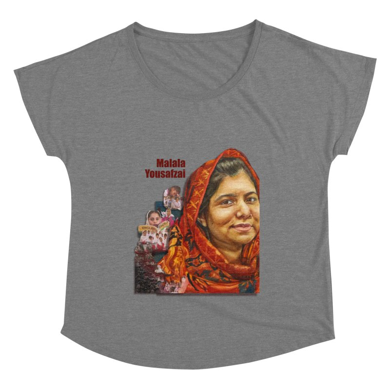 Malala Yousafzai Women's Scoop Neck by Afro Triangle's