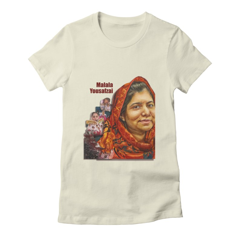 Malala Yousafzai Women's Fitted T-Shirt by Afro Triangle's