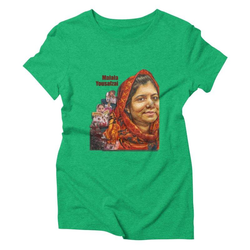 Malala Yousafzai Women's Triblend T-Shirt by Afro Triangle's