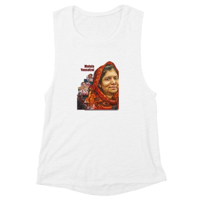 Malala Yousafzai Women's Muscle Tank by Afro Triangle's
