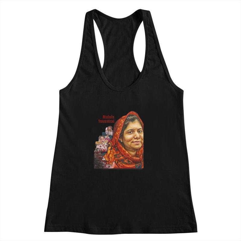Malala Yousafzai Women's Racerback Tank by Afro Triangle's