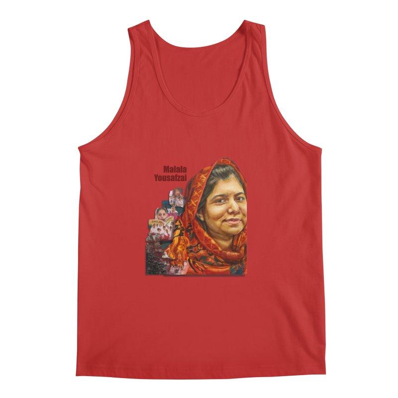 Malala Yousafzai Men's Regular Tank by Afro Triangle's