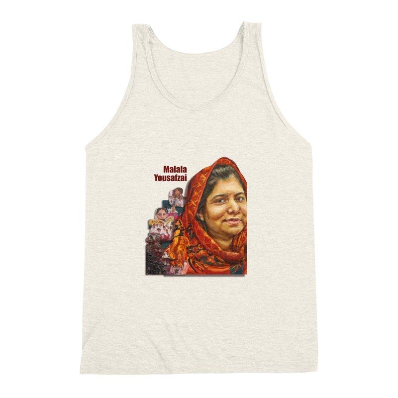 Malala Yousafzai Men's Triblend Tank by Afro Triangle's