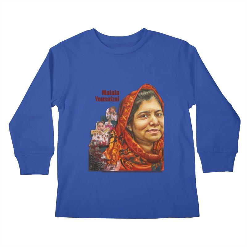 Malala Yousafzai Kids Longsleeve T-Shirt by Afro Triangle's