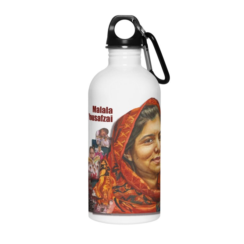 Malala Yousafzai Accessories Water Bottle by Afro Triangle's