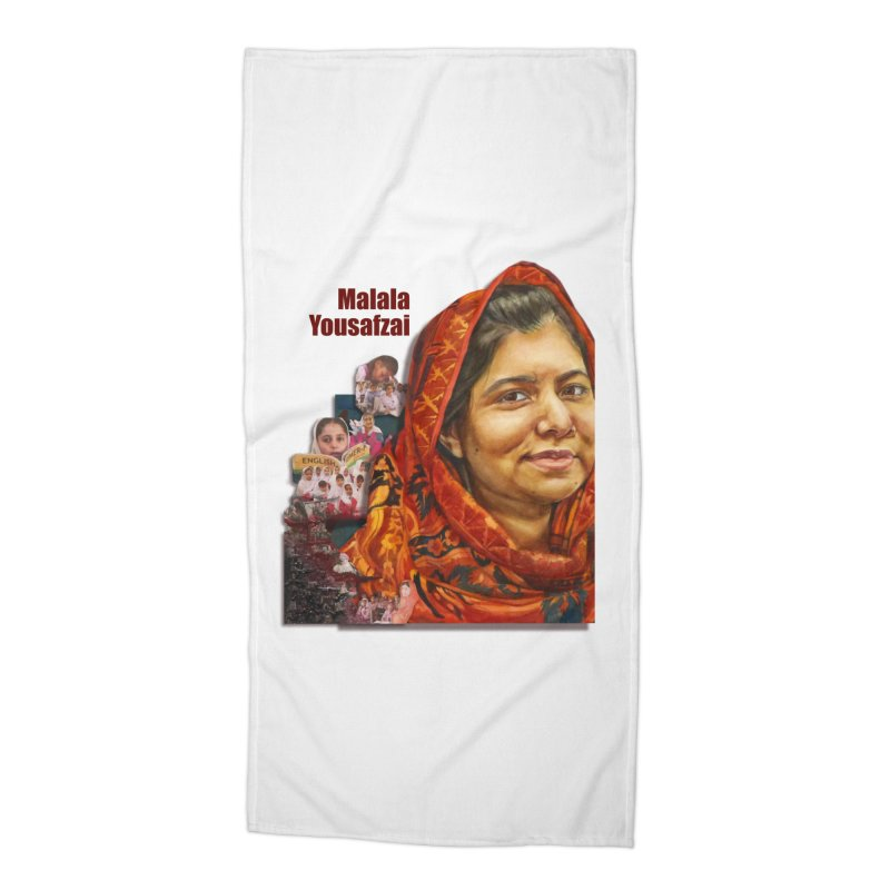 Malala Yousafzai Accessories Beach Towel by Afro Triangle's