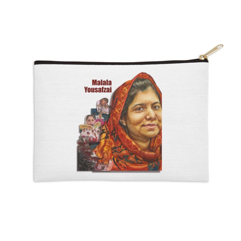 Malala Yousafzai Accessories Zip Pouch by Afro Triangle's
