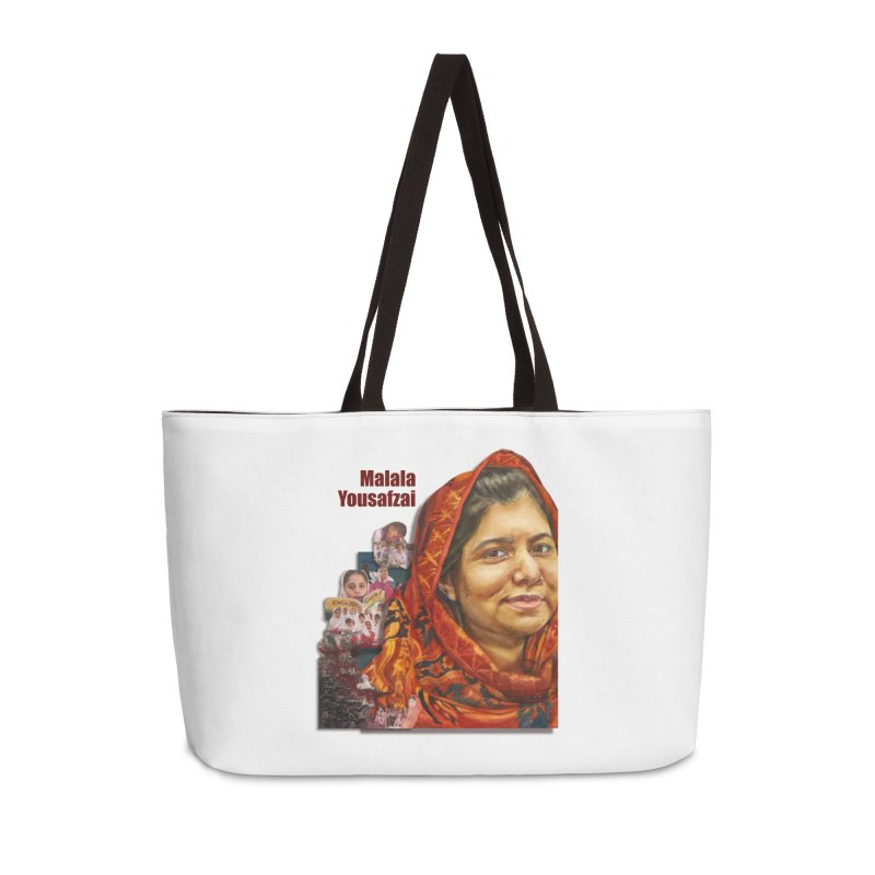Malala Yousafzai Accessories Weekender Bag Bag by Afro Triangle's