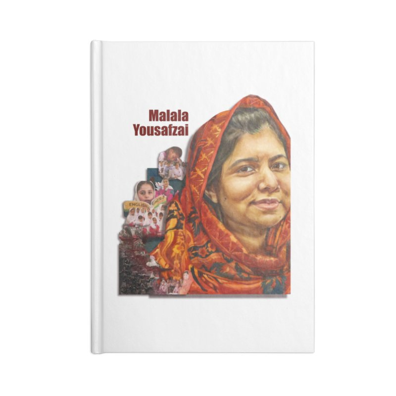 Malala Yousafzai Accessories Blank Journal Notebook by Afro Triangle's