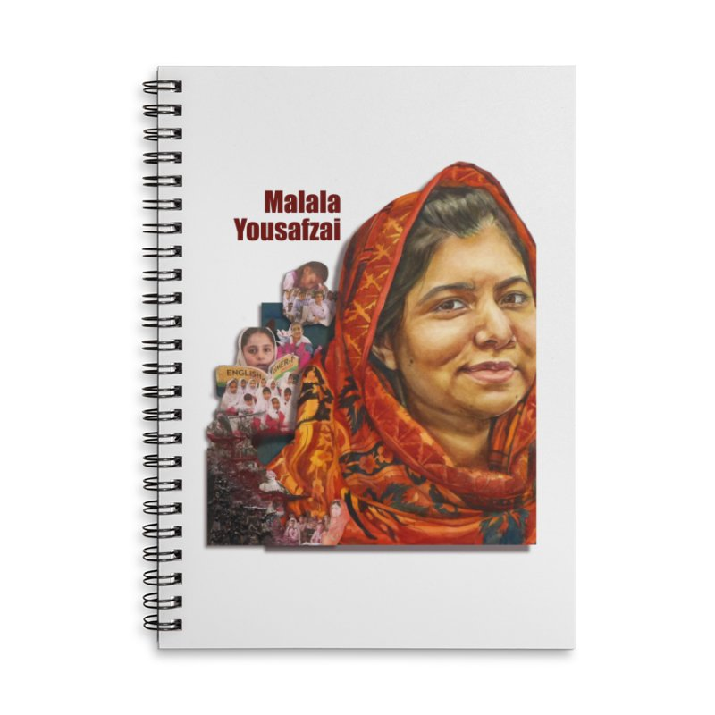 Malala Yousafzai Accessories Lined Spiral Notebook by Afro Triangle's