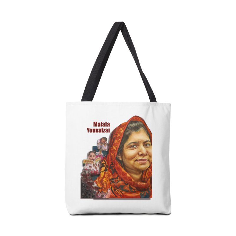 Malala Yousafzai Accessories Tote Bag Bag by Afro Triangle's