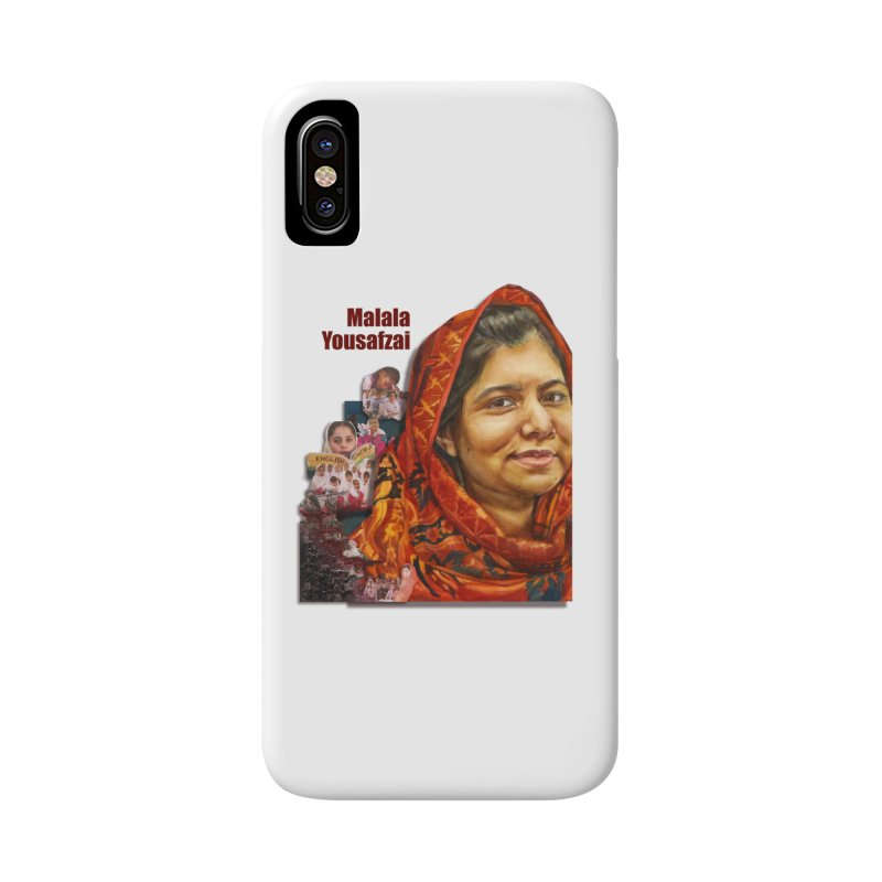 Malala Yousafzai Accessories Phone Case by Afro Triangle's