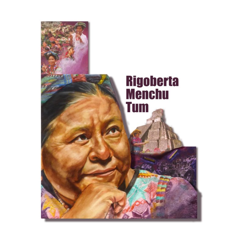 Rigoberta Menchu Tum Accessories Zip Pouch by Afro Triangle's