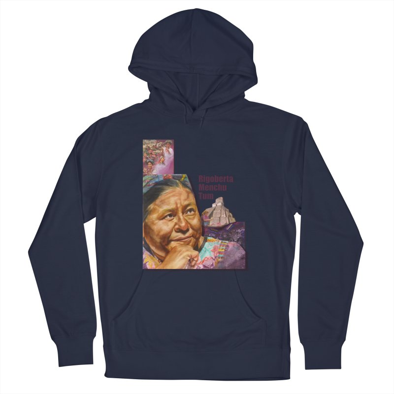 Rigoberta Menchu Tum Men's French Terry Pullover Hoody by Afro Triangle's