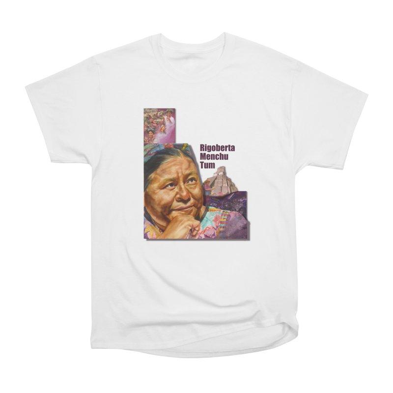 Rigoberta Menchu Tum in Men's Heavyweight T-Shirt White by Afro Triangle's