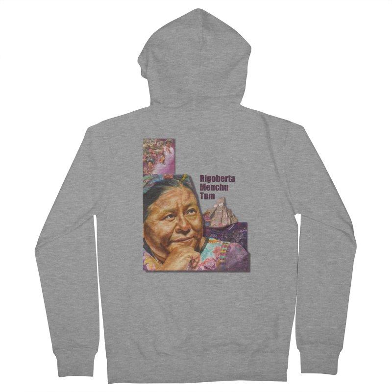 Rigoberta Menchu Tum Women's French Terry Zip-Up Hoody by Afro Triangle's
