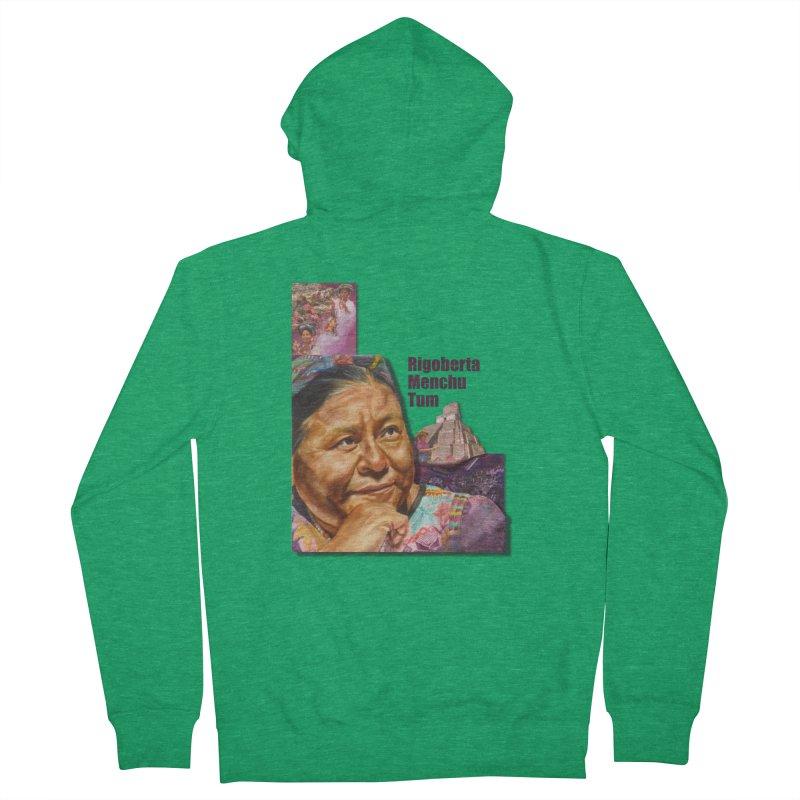Rigoberta Menchu Tum Men's Zip-Up Hoody by Afro Triangle's