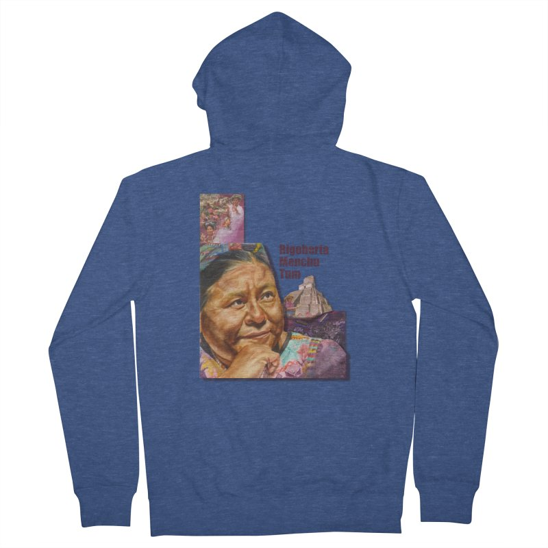 Rigoberta Menchu Tum Men's French Terry Zip-Up Hoody by Afro Triangle's