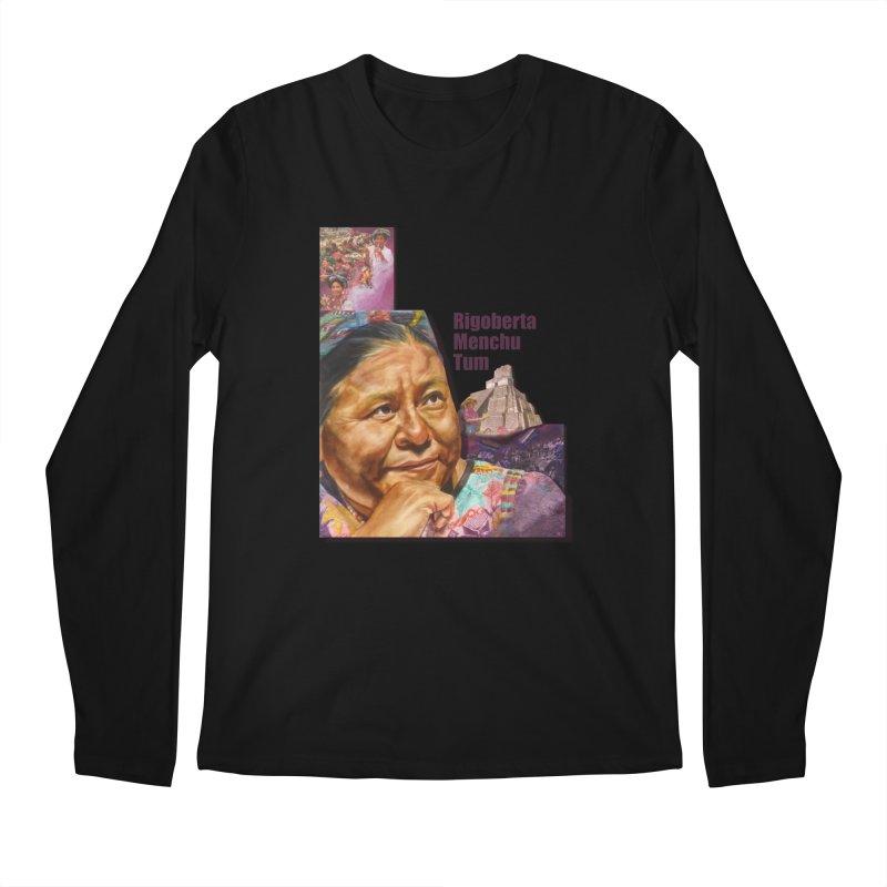 Rigoberta Menchu Tum Men's Regular Longsleeve T-Shirt by Afro Triangle's