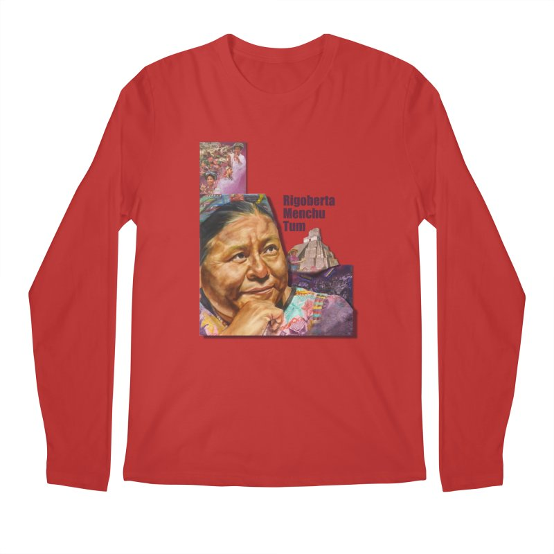 Rigoberta Menchu Tum Men's Regular Longsleeve T-Shirt by Afro Triangle's