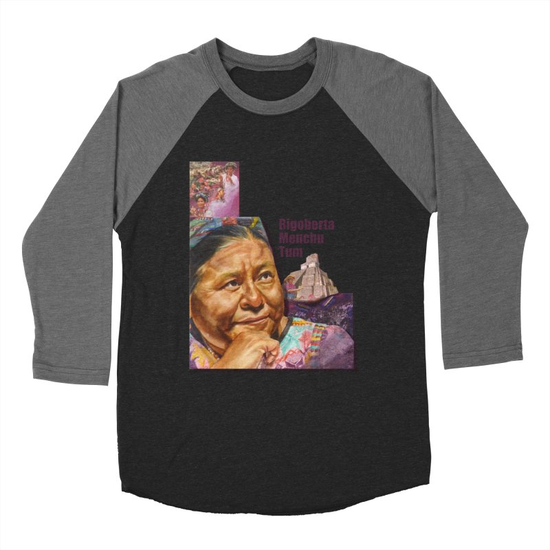 Rigoberta Menchu Tum Women's Baseball Triblend Longsleeve T-Shirt by Afro Triangle's