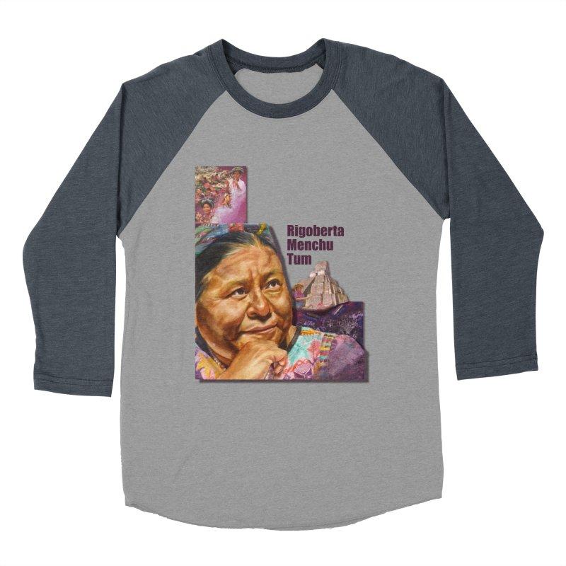 Rigoberta Menchu Tum Men's Baseball Triblend Longsleeve T-Shirt by Afro Triangle's
