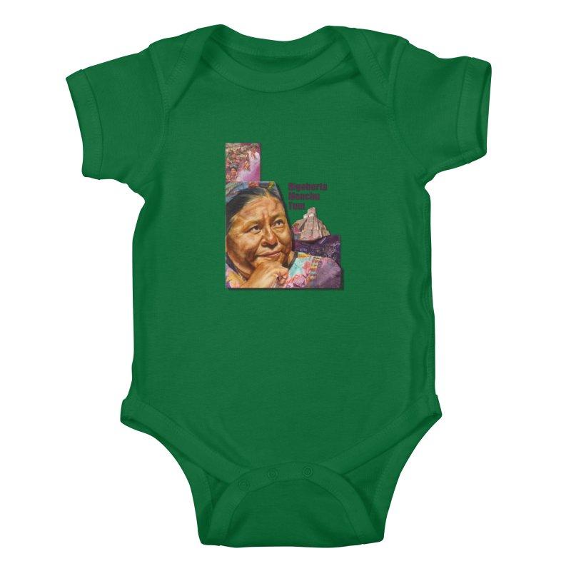 Rigoberta Menchu Tum Kids Baby Bodysuit by Afro Triangle's