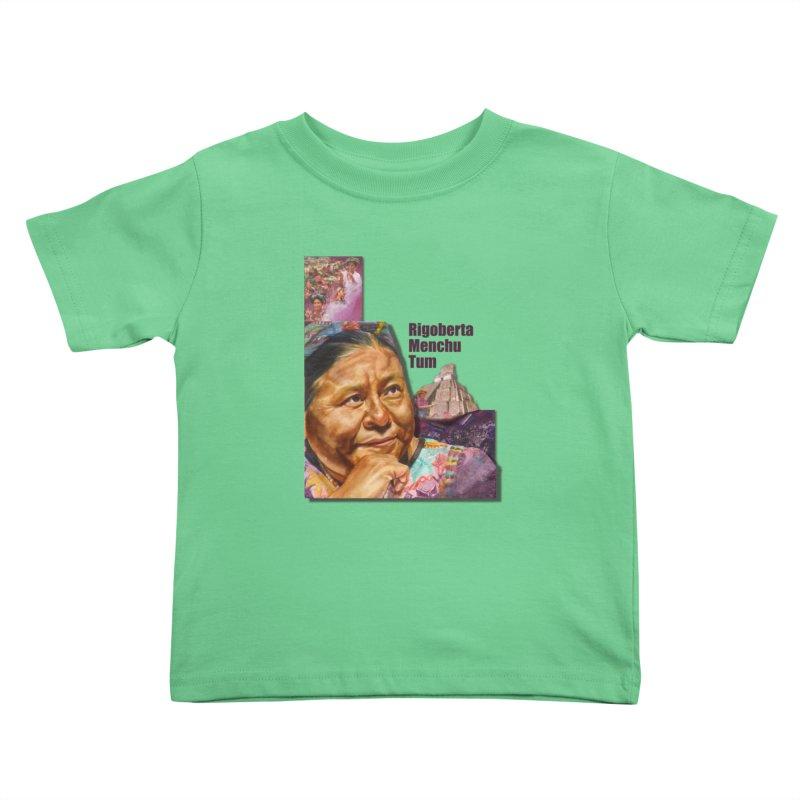 Rigoberta Menchu Tum Kids Toddler T-Shirt by Afro Triangle's