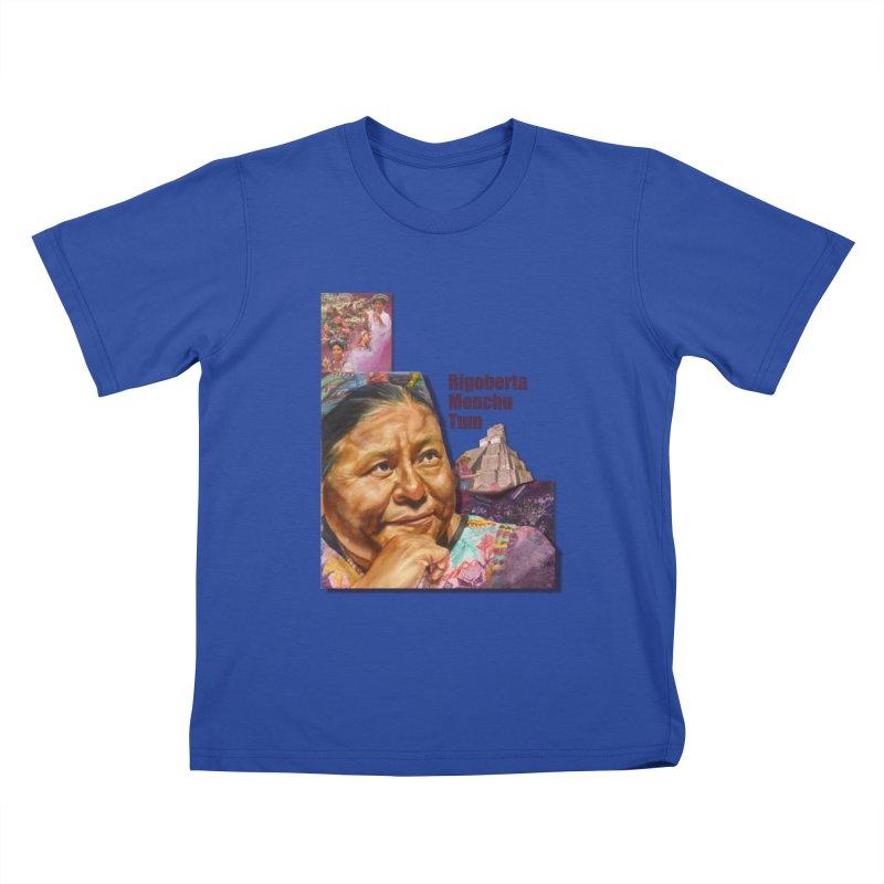 Rigoberta Menchu Tum Kids T-Shirt by Afro Triangle's