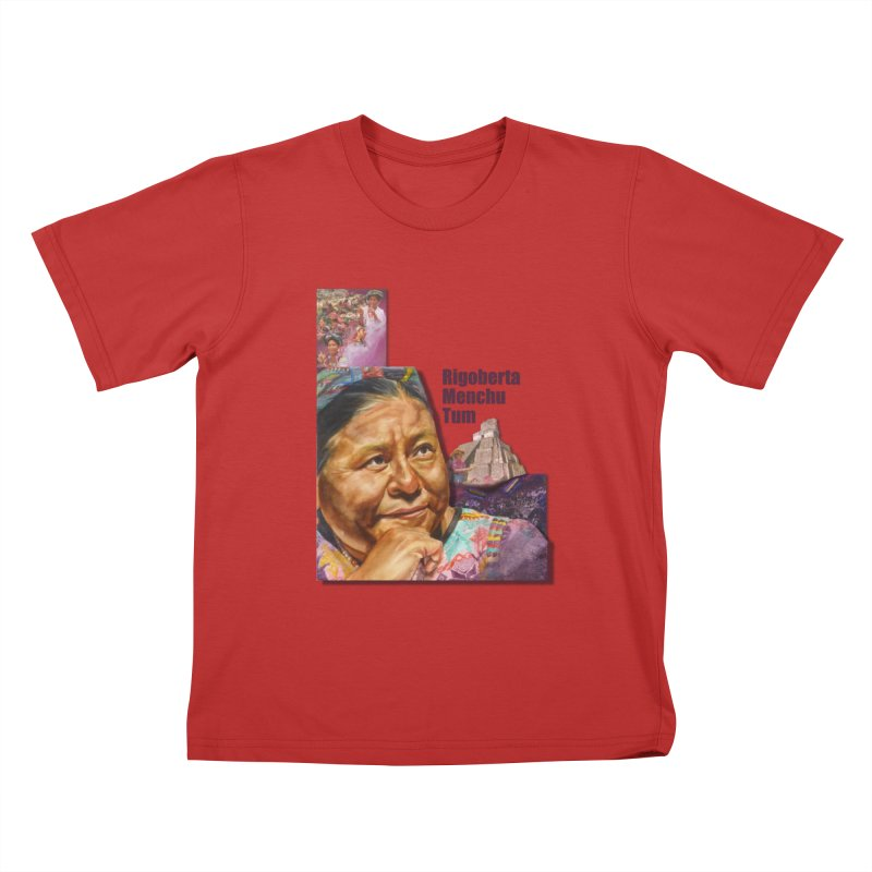 Rigoberta Menchu Tum Kids T-Shirt by Afro Triangle's