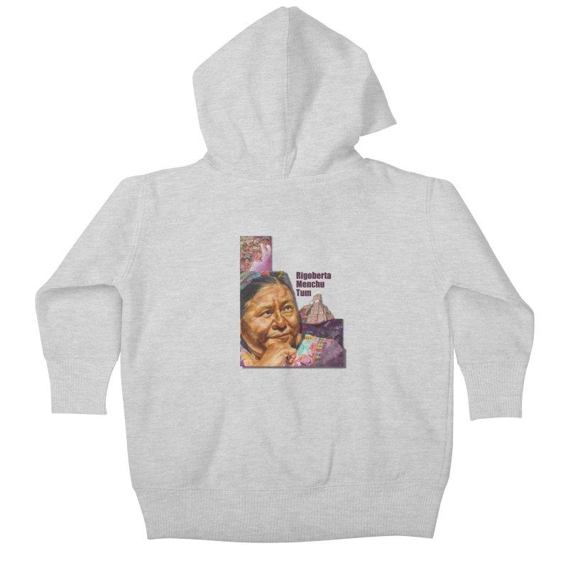 Rigoberta Menchu Tum Kids Baby Zip-Up Hoody by Afro Triangle's