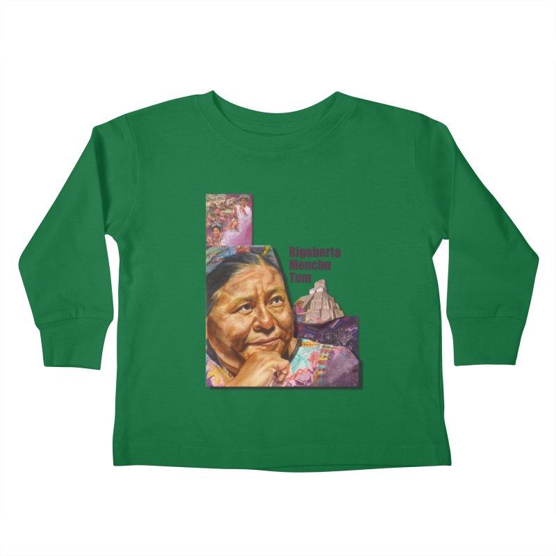 Rigoberta Menchu Tum Kids Toddler Longsleeve T-Shirt by Afro Triangle's