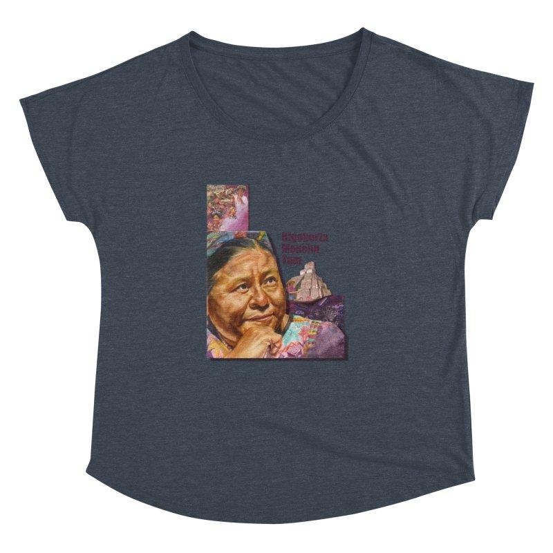 Rigoberta Menchu Tum Women's Dolman Scoop Neck by Afro Triangle's