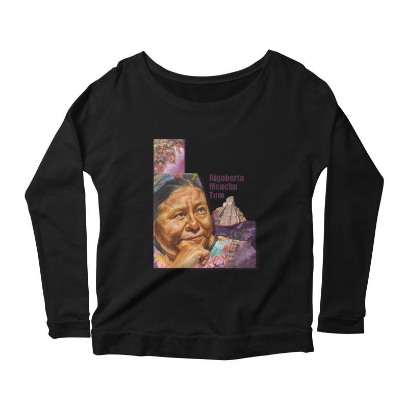 Rigoberta Menchu Tum Women's Scoop Neck Longsleeve T-Shirt by Afro Triangle's