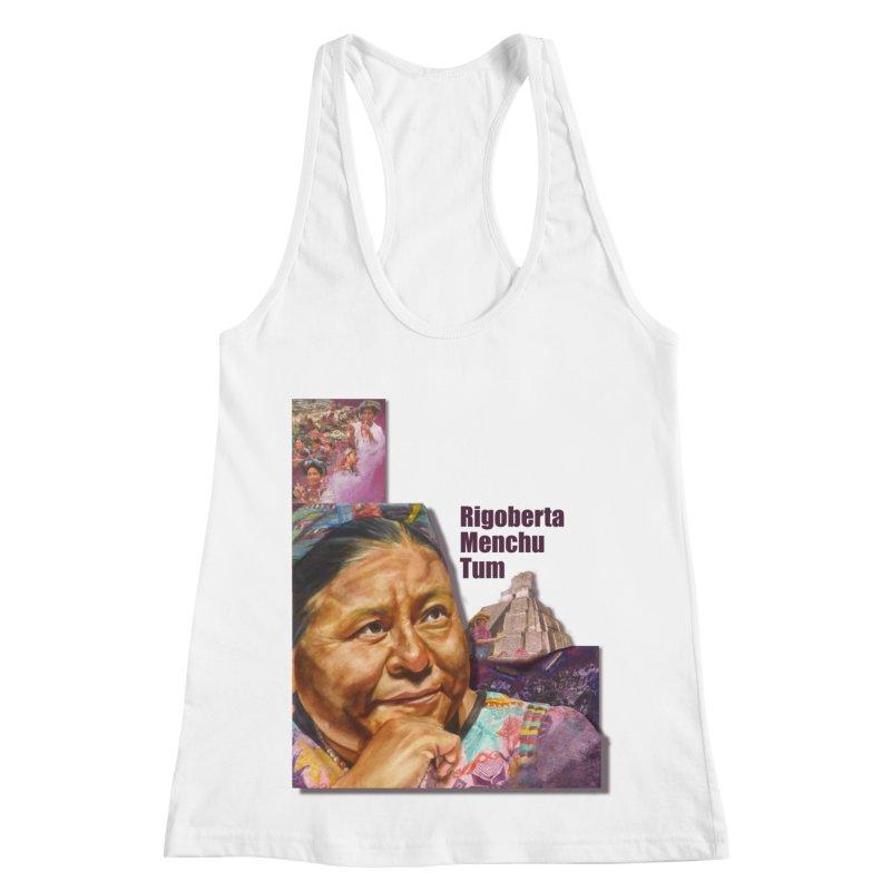 Rigoberta Menchu Tum Women's Racerback Tank by Afro Triangle's