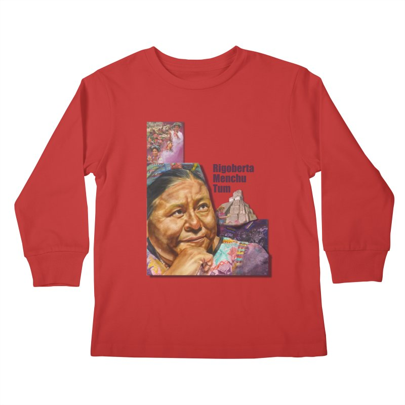 Rigoberta Menchu Tum Kids Longsleeve T-Shirt by Afro Triangle's