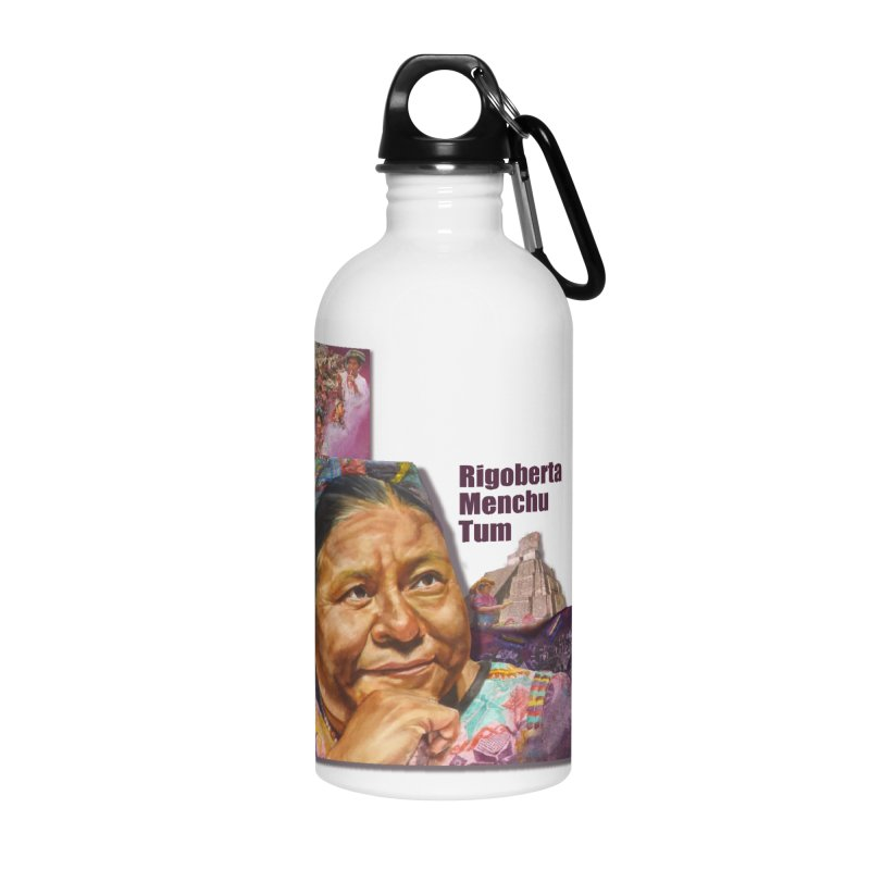 Rigoberta Menchu Tum Accessories Water Bottle by Afro Triangle's