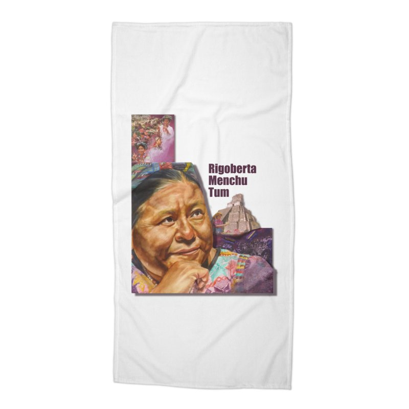 Rigoberta Menchu Tum Accessories Beach Towel by Afro Triangle's