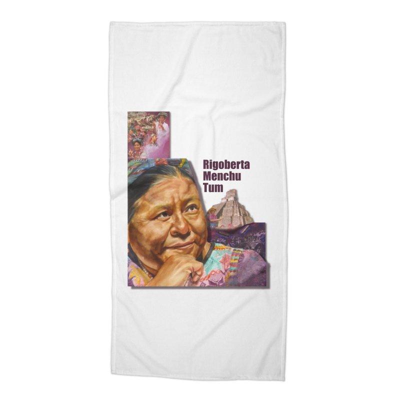 Rigoberta Menchu Tum Accessories Beach Towel by Afro Triangle's