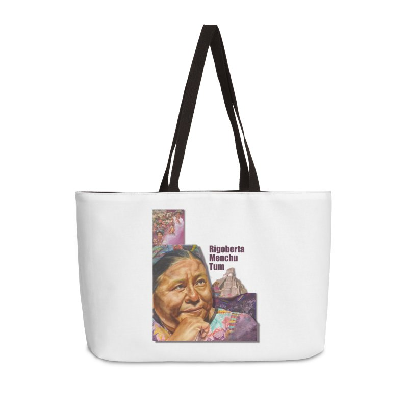Rigoberta Menchu Tum Accessories Weekender Bag Bag by Afro Triangle's