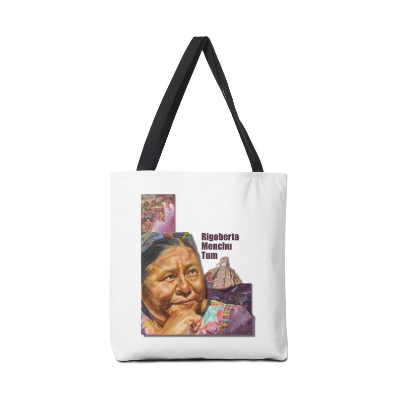 Rigoberta Menchu Tum Accessories Tote Bag Bag by Afro Triangle's