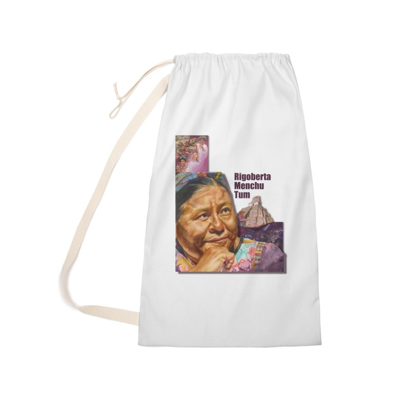 Rigoberta Menchu Tum Accessories Laundry Bag Bag by Afro Triangle's