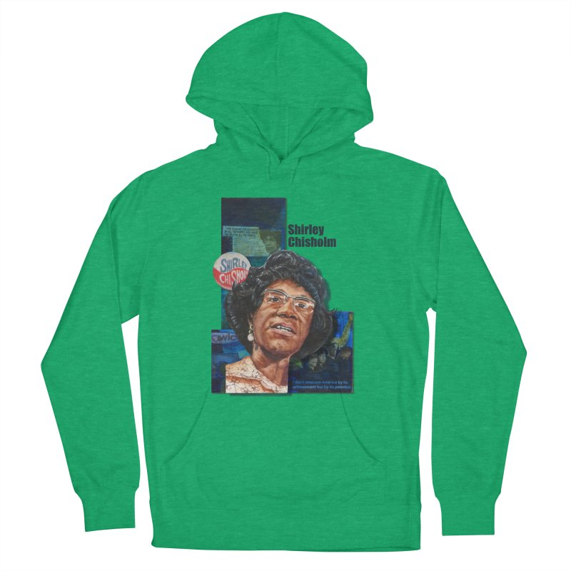 Shirley Chisholm Men's French Terry Pullover Hoody by Afro Triangle's