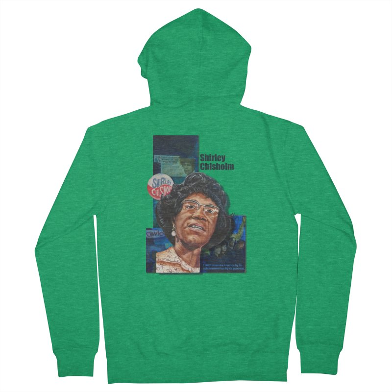 Shirley Chisholm Women's French Terry Zip-Up Hoody by Afro Triangle's