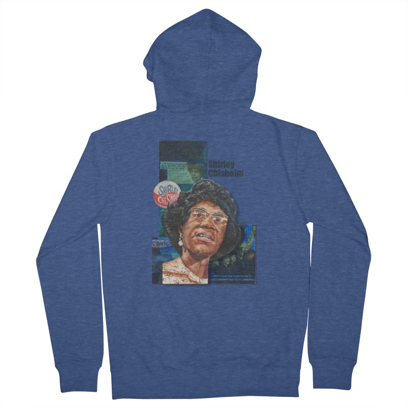Shirley Chisholm Men's Zip-Up Hoody by Afro Triangle's