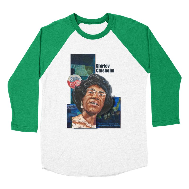 Shirley Chisholm Women's Baseball Triblend T-Shirt by Afro Triangle's